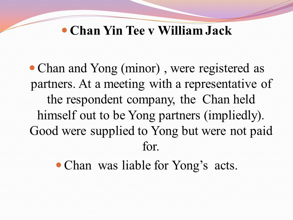 Chan Yin Tee v William Jack