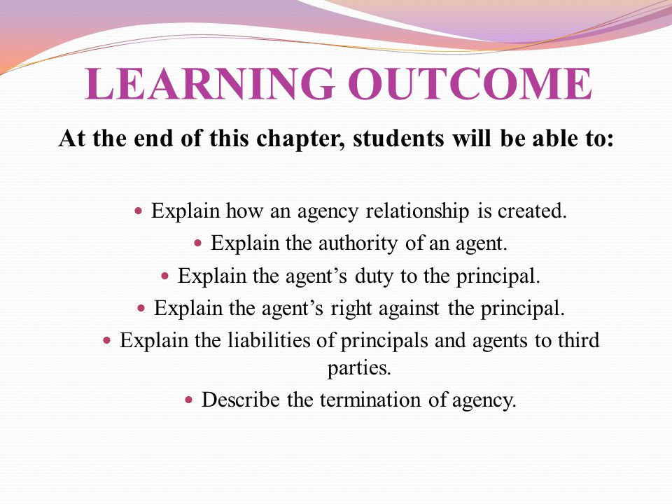At the end of this chapter, students will be able to:
