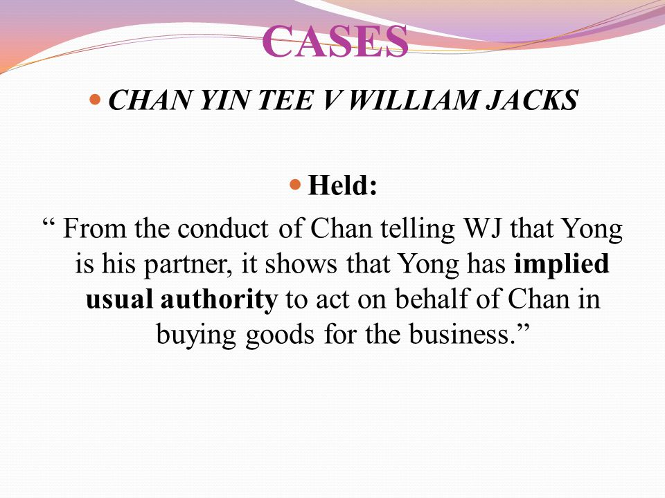 CHAN YIN TEE V WILLIAM JACKS