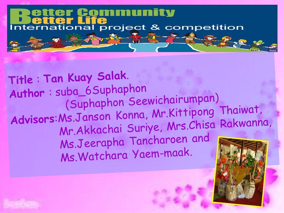 Title : Tan Kuay Salak. Author : suba_6Suphaphon