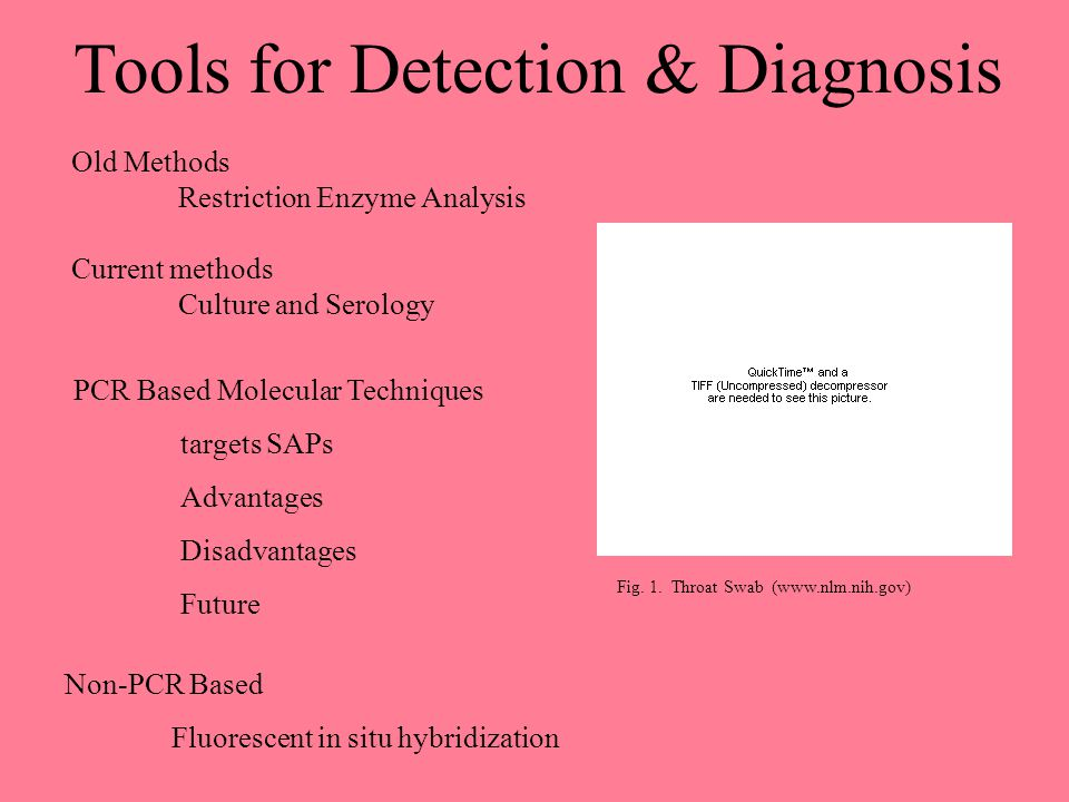 Tools for Detection & Diagnosis