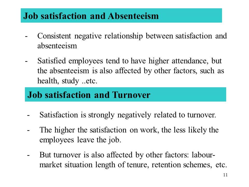 Job satisfaction and Absenteeism