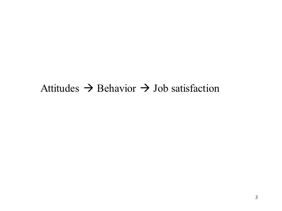 Attitudes  Behavior  Job satisfaction