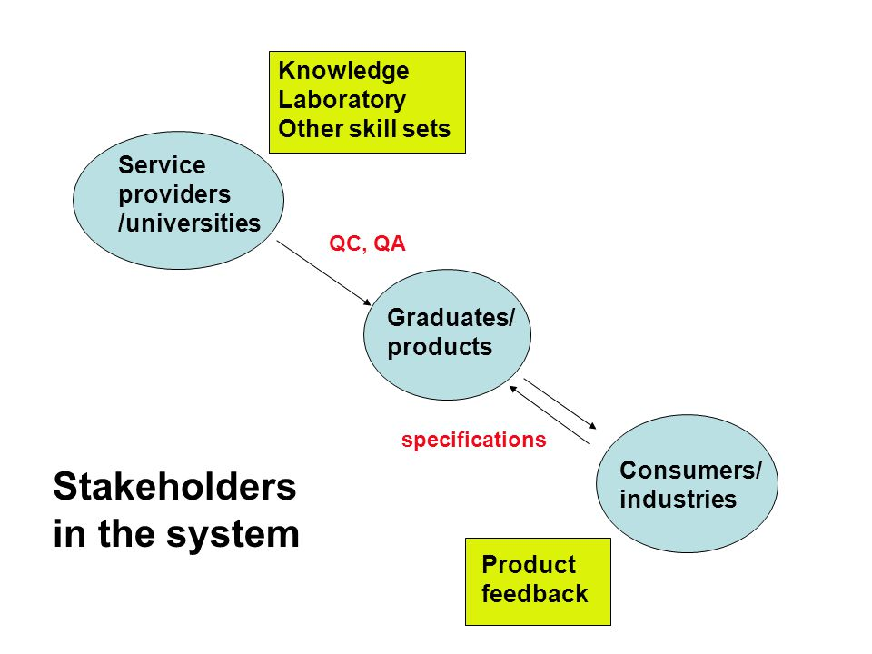 Stakeholders in the system