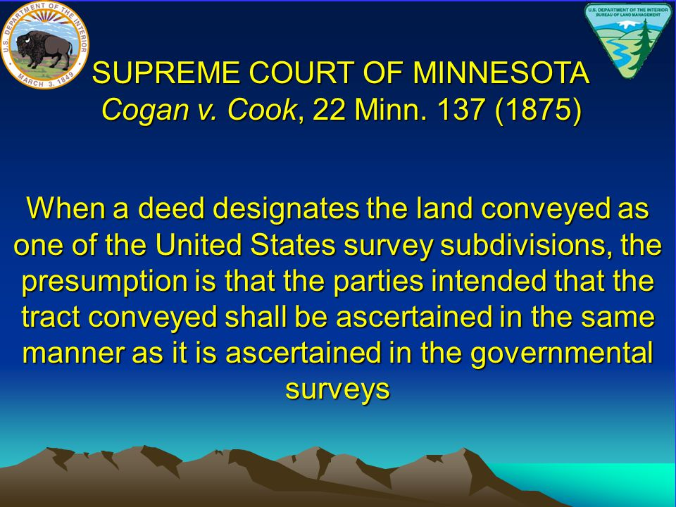 SUPREME COURT OF MINNESOTA Cogan v. Cook, 22 Minn. 137 (1875)