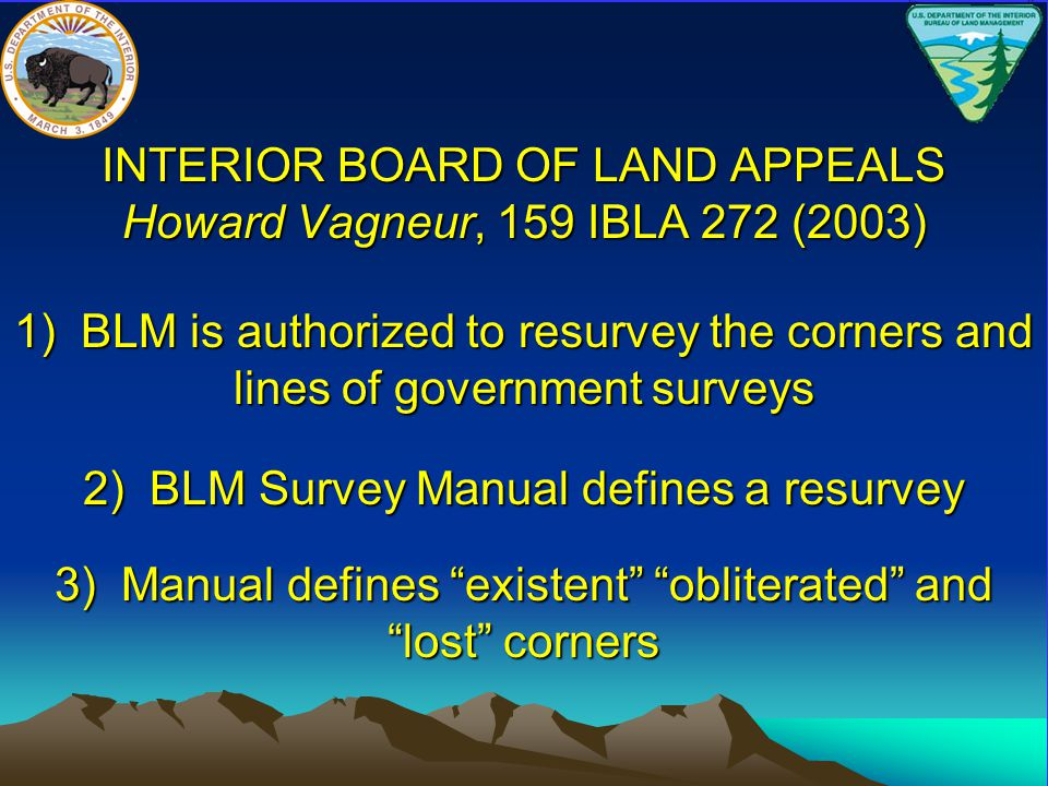 INTERIOR BOARD OF LAND APPEALS Howard Vagneur, 159 IBLA 272 (2003)