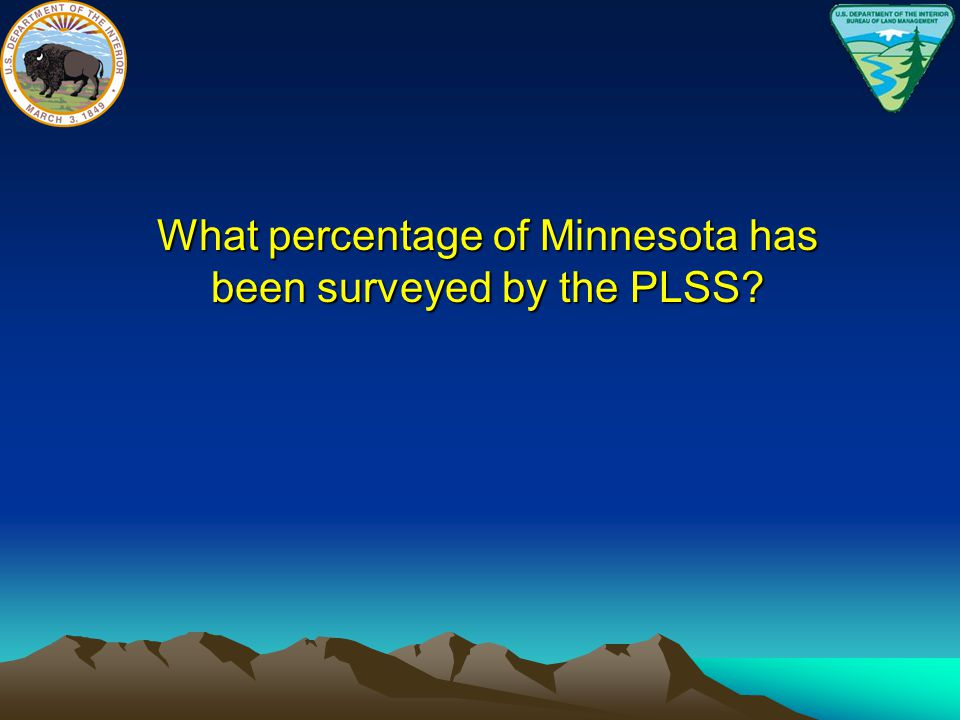 What percentage of Minnesota has been surveyed by the PLSS
