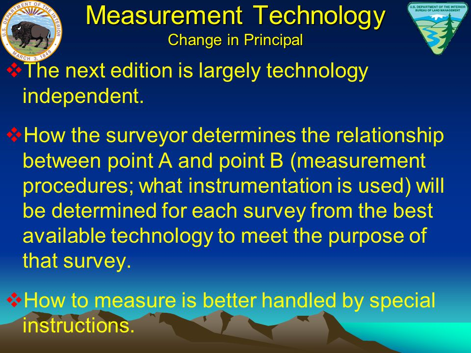 Measurement Technology Change in Principal