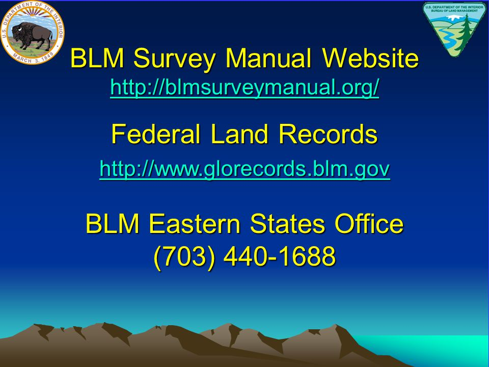 BLM Survey Manual Website