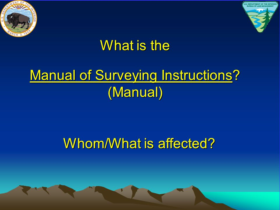 Manual of Surveying Instructions (Manual)