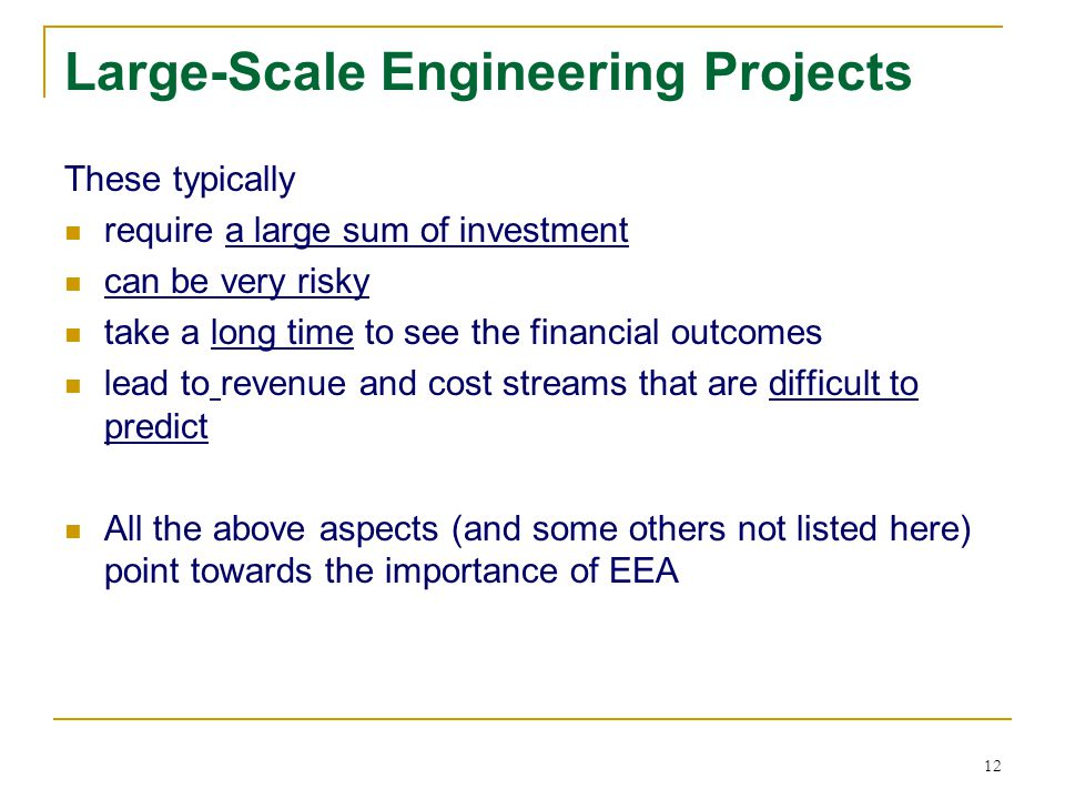 Large-Scale Engineering Projects