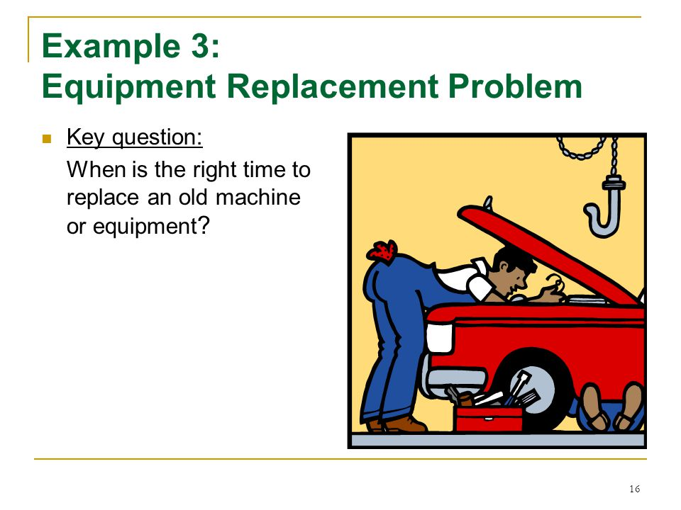 Example 3: Equipment Replacement Problem