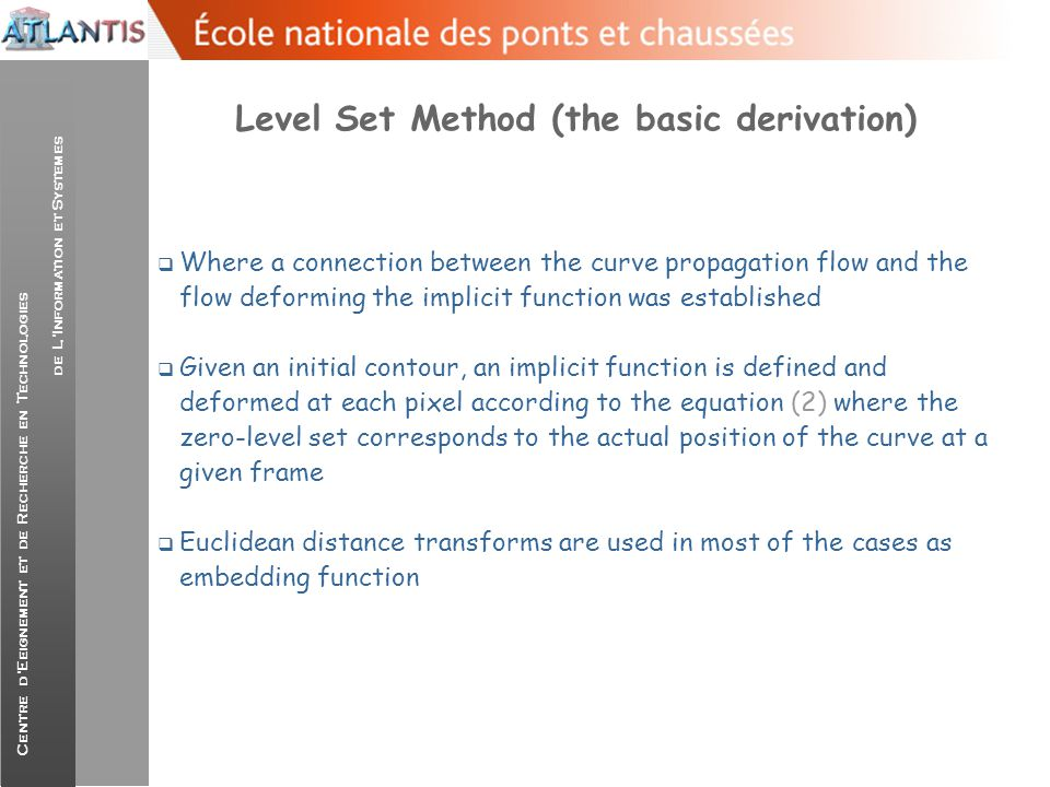 Level Set Method (the basic derivation)