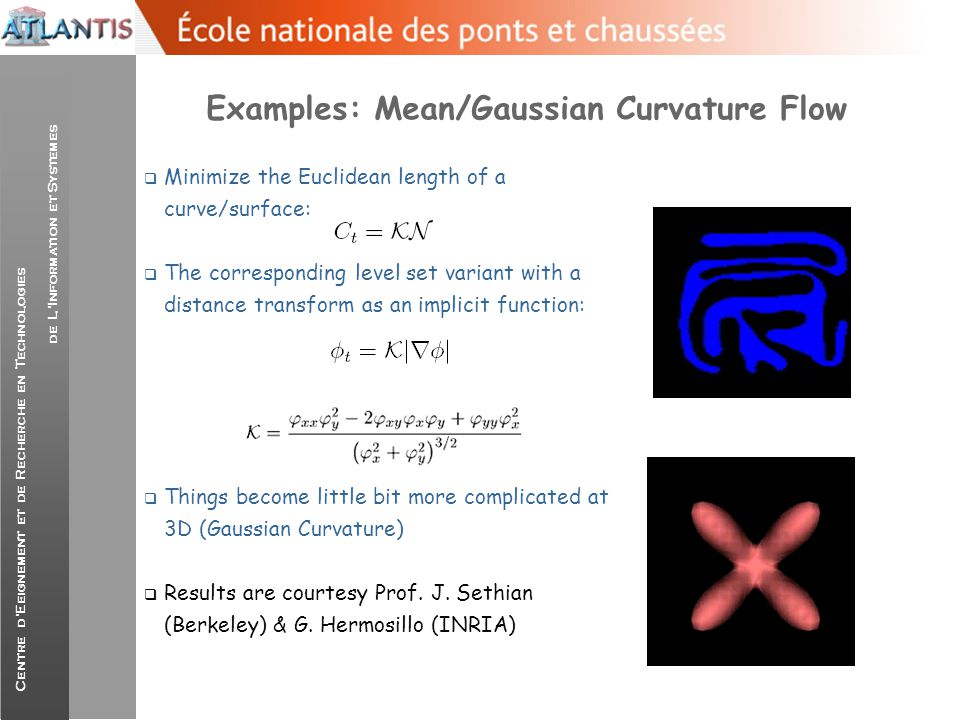 Examples: Mean/Gaussian Curvature Flow