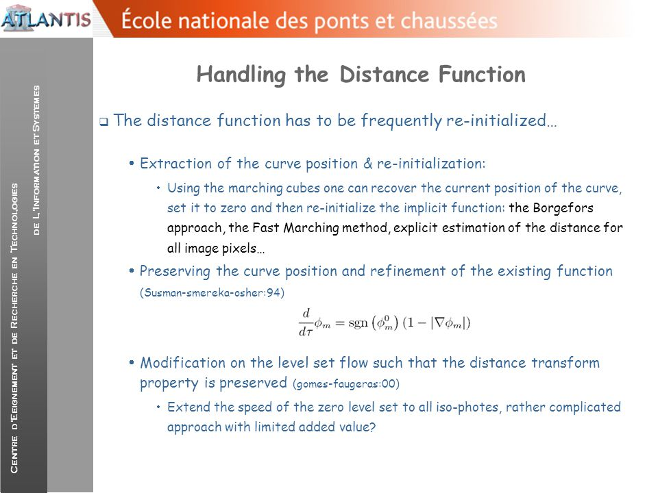 Handling the Distance Function