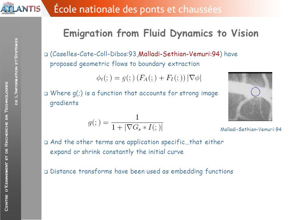 Emigration from Fluid Dynamics to Vision