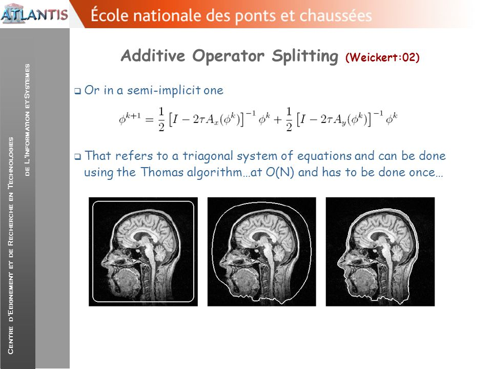 Additive Operator Splitting (Weickert:02)