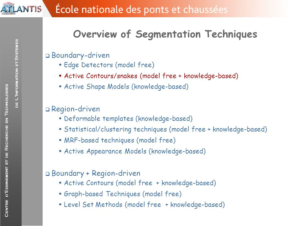 Overview of Segmentation Techniques