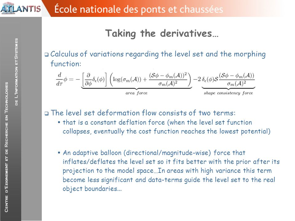 Taking the derivatives…