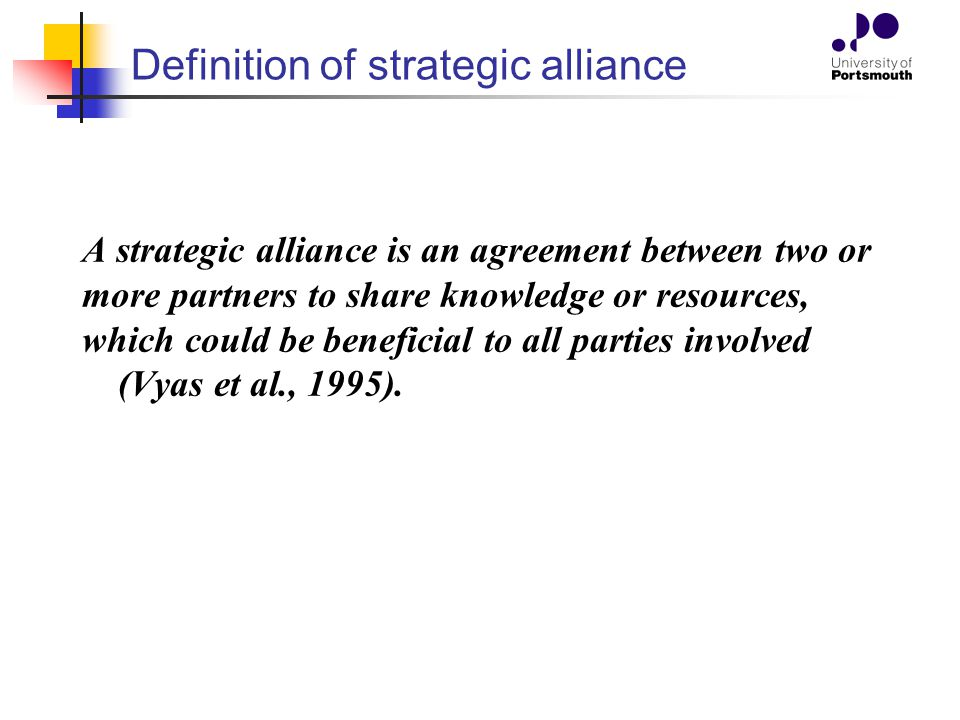 Definition of strategic alliance