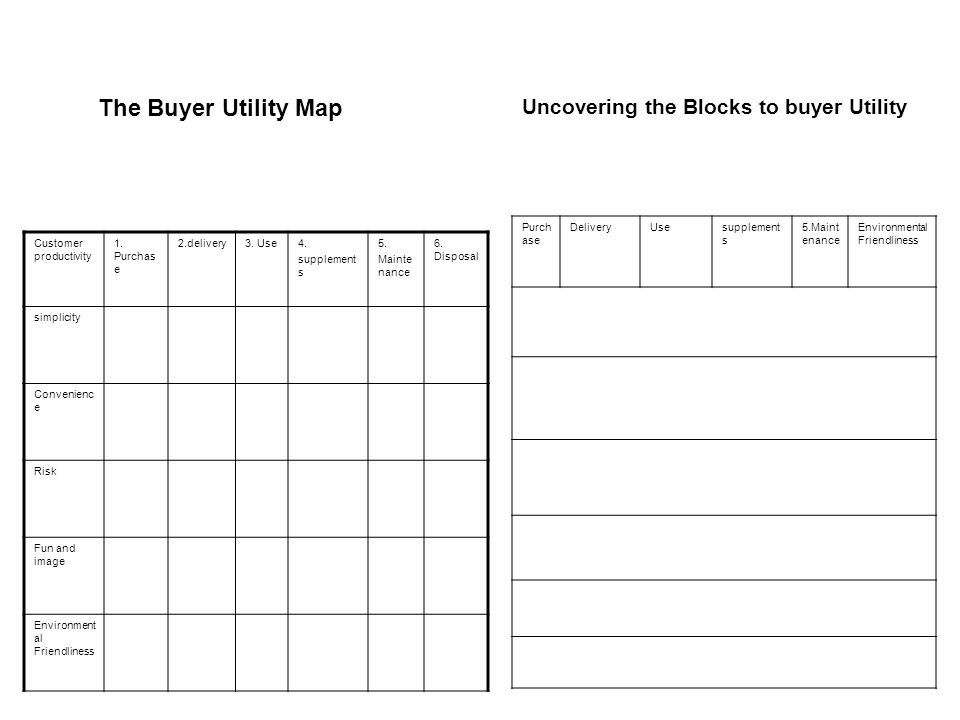 The Buyer Utility Map Uncovering the Blocks to buyer Utility Purchase