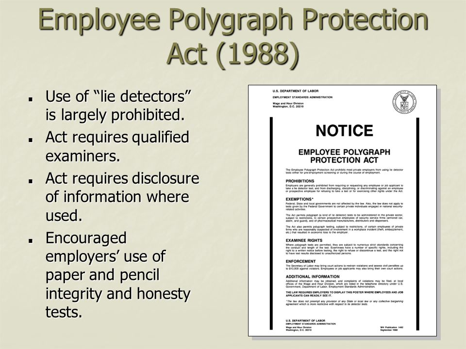 Employee Polygraph Protection Act (1988)