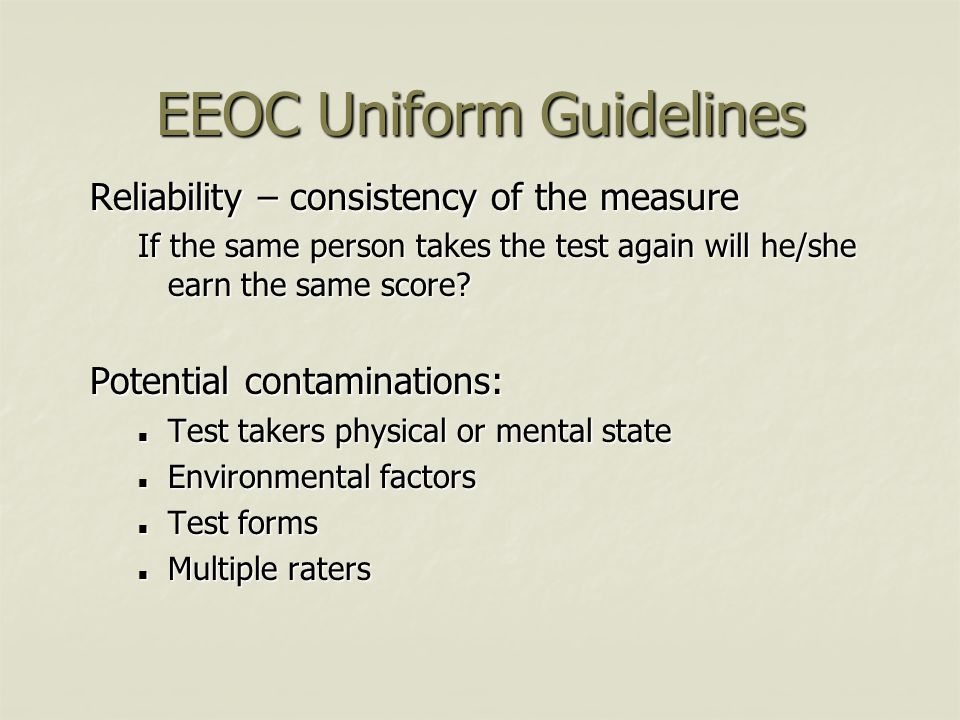 EEOC Uniform Guidelines