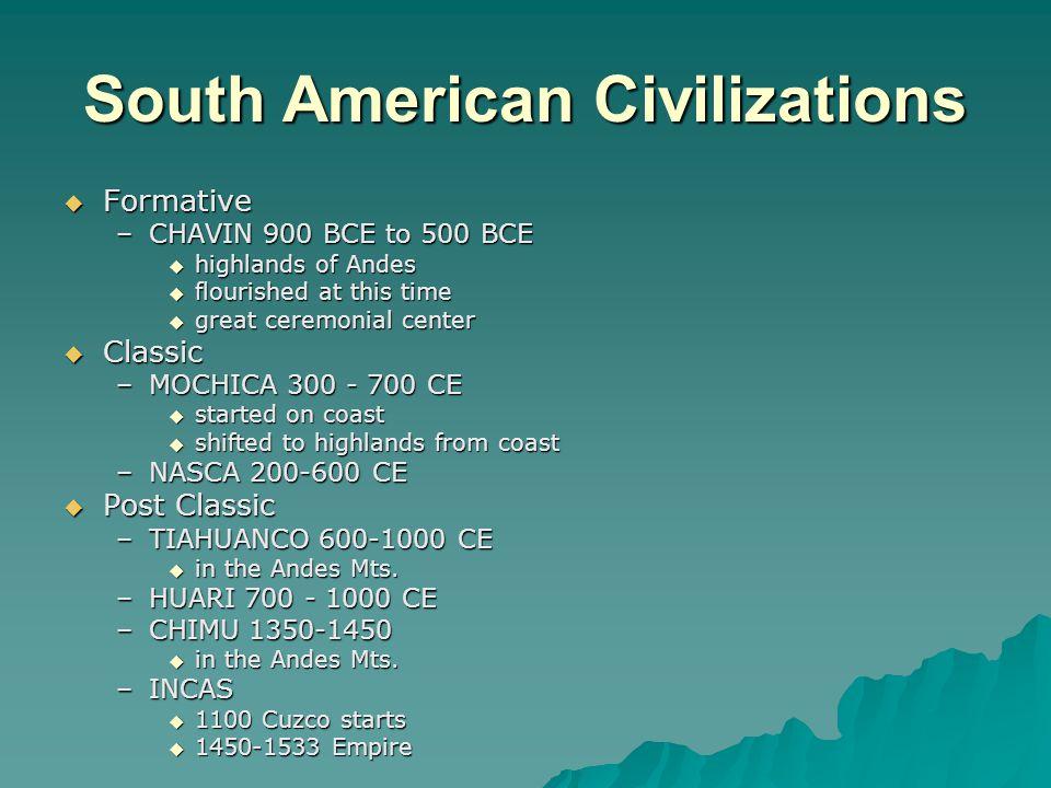 South American Civilizations