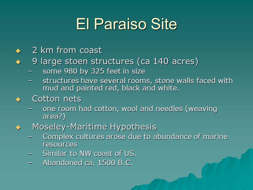 El Paraiso Site 2 km from coast