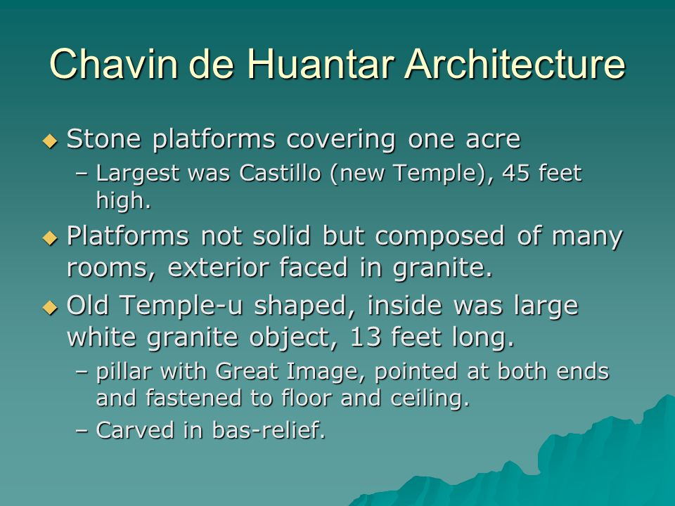 Chavin de Huantar Architecture
