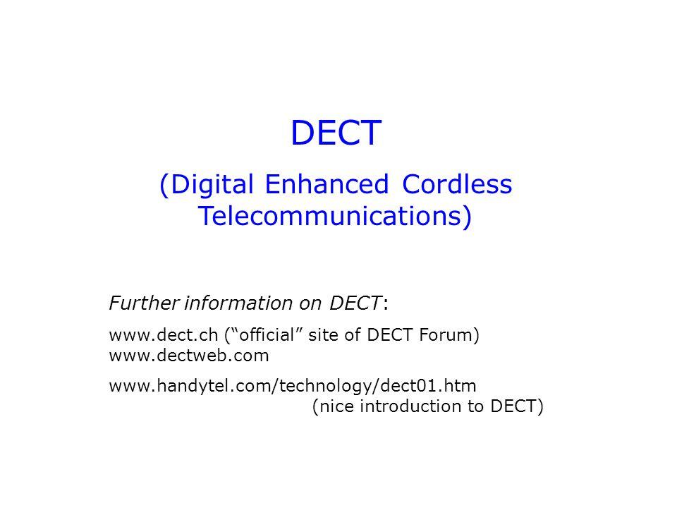 (Digital Enhanced Cordless Telecommunications)