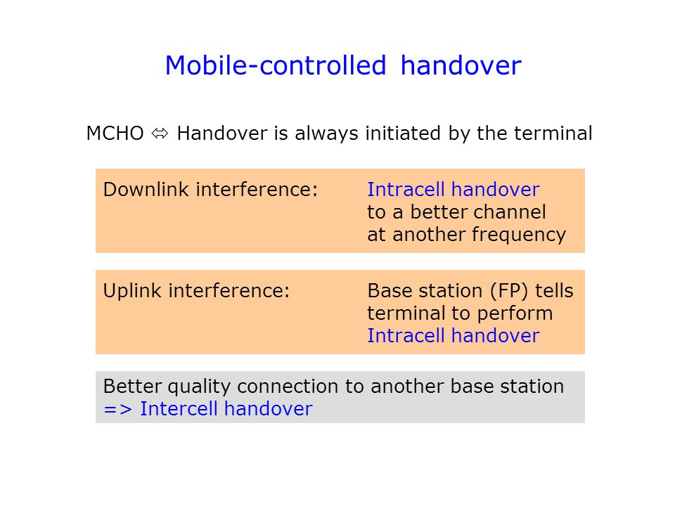 Mobile-controlled handover
