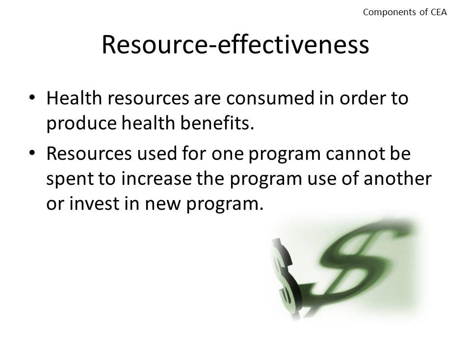 Resource-effectiveness