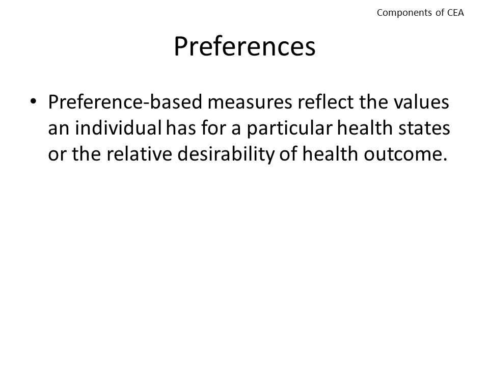 Components of CEA Preferences.