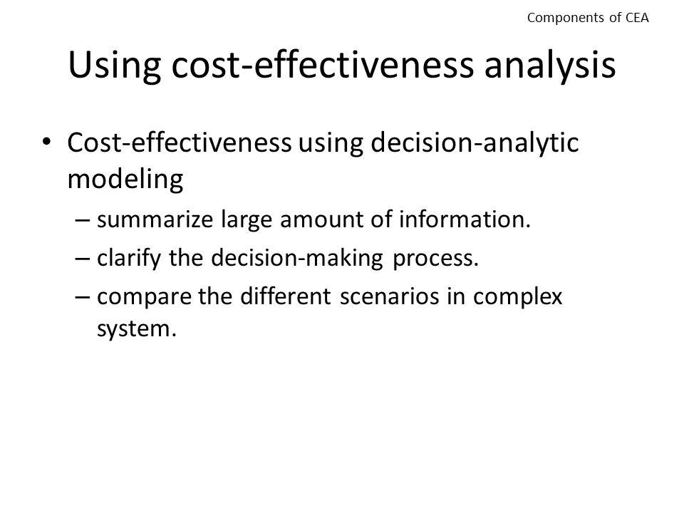 Using cost-effectiveness analysis