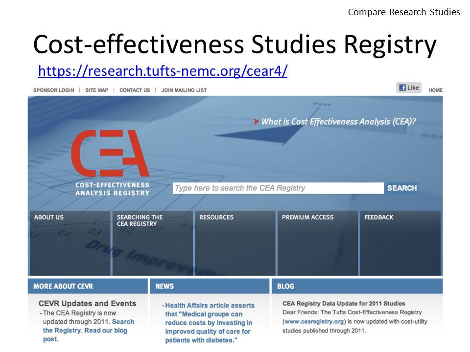 Cost-effectiveness Studies Registry