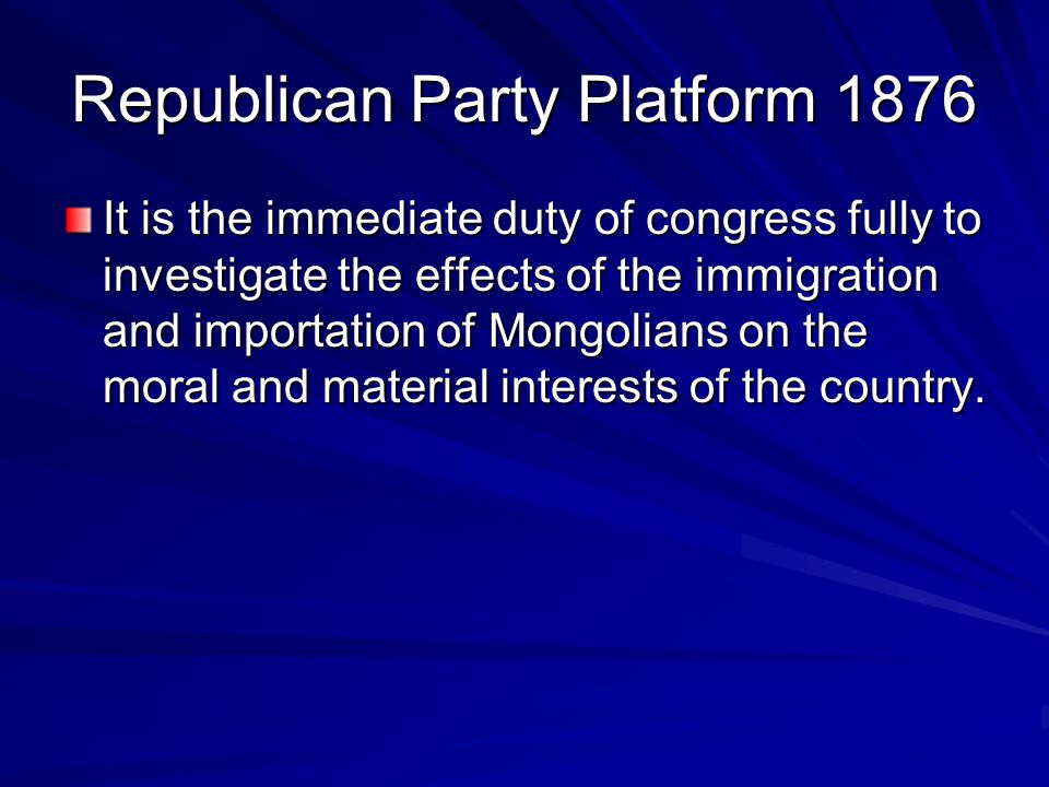 Republican Party Platform 1876