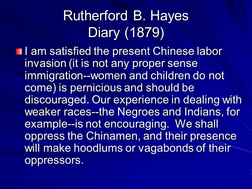 Rutherford B. Hayes Diary (1879)