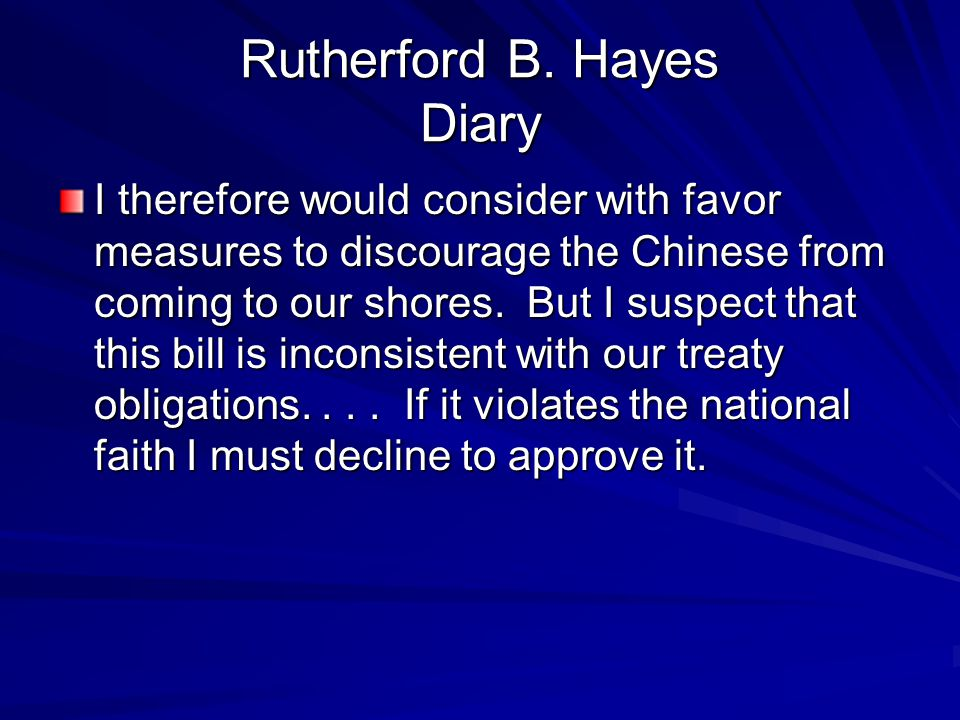 Rutherford B. Hayes Diary