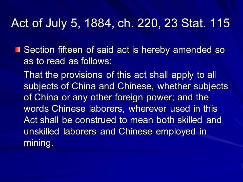 Act of July 5, 1884, ch. 220, 23 Stat. 115 Section fifteen of said act is hereby amended so as to read as follows: