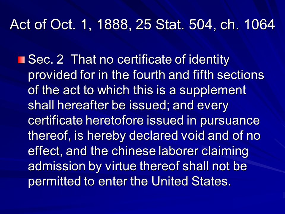Act of Oct. 1, 1888, 25 Stat. 504, ch. 1064