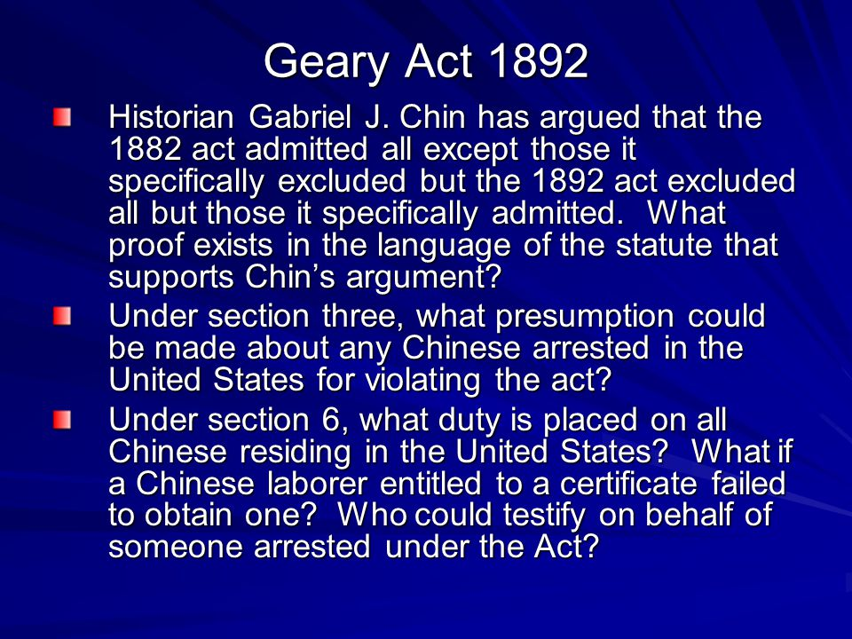 Geary Act 1892