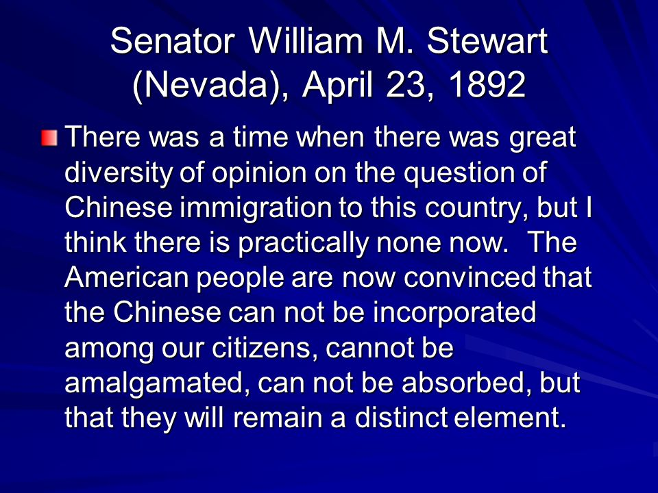Senator William M. Stewart (Nevada), April 23, 1892