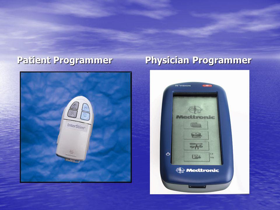 Patient Programmer Physician Programmer