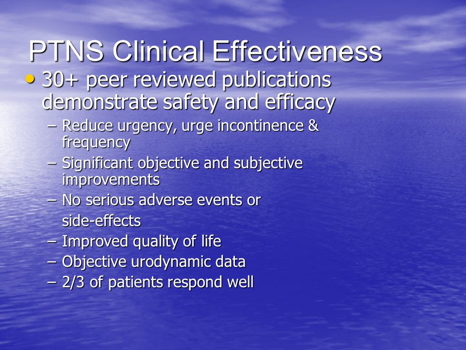 PTNS Clinical Effectiveness