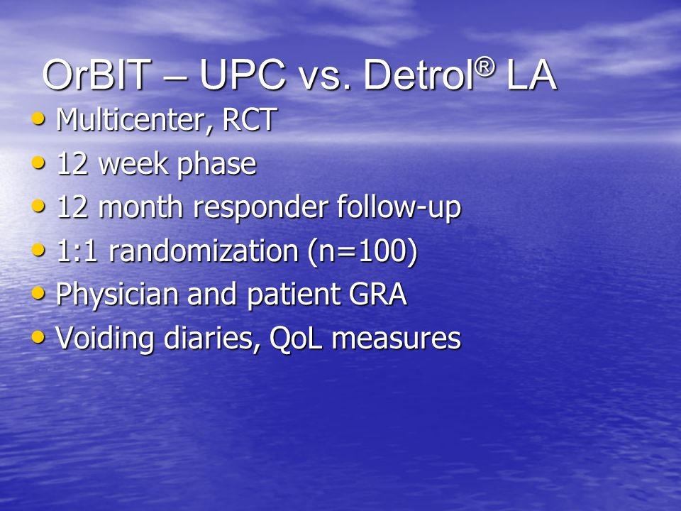 OrBIT – UPC vs. Detrol® LA