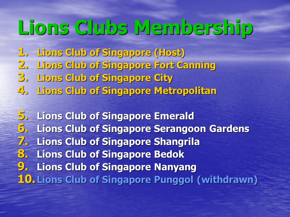 Lions Clubs Membership