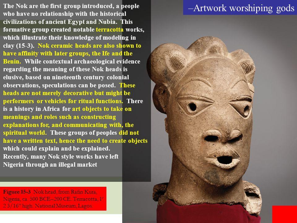 Artwork worshiping gods