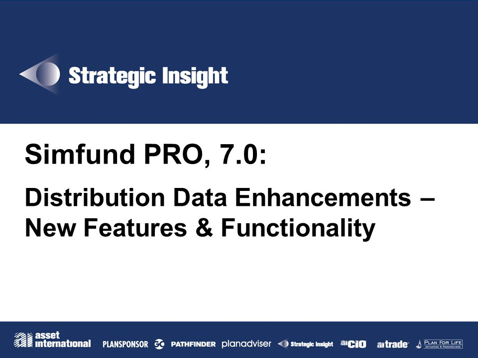 Simfund PRO, 7.0: Distribution Data Enhancements –