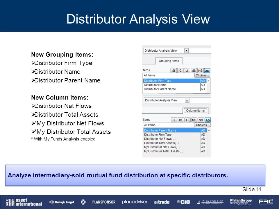 Distributor Analysis View